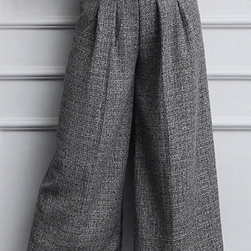 Elastic High-Waisted Pants