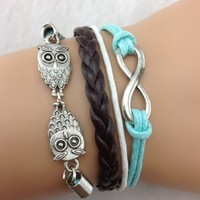 Blue and Brown Owl Set