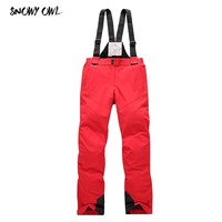 Free Shipping women's ski pants thicken suspenders outdoor ski female skiing and snowboarding pants sport trousers h155