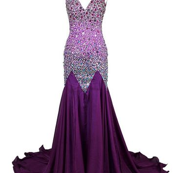 Dresstells® Mermaid Prom Dress with Rhinestones Formal Evening Party Dress