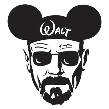 76421bd096b Breaking Bad Walter White Mickey Hat from stickEdecals on Etsy