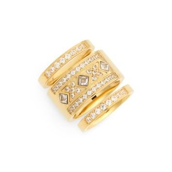 Ellie Vail Athena Set of 3 Rings | Nordstrom