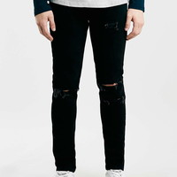 Black Ripped Skinny Fit Jeans - Topman