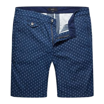 Men Summer Cargo Shorts Anchor Dots Homme Solid Casual Mens Short Pants Jogger Men Loose Clothing Beach Drop Crotch Boardshorts