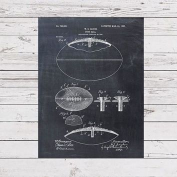 Patent Print of a Football Patent Art Print Patent Poster