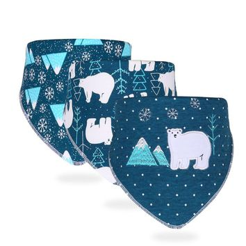 3pcs/set Baby Bibs Bandana 100% Cotton Baby Bib Cotton Breathable Bandana For Children Infant Saliva Towel For Boys And Girls