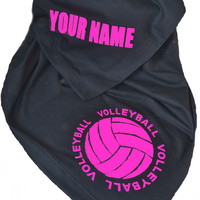 Personalized Stadium Sweatshirt Fleece Blanket Volleyball