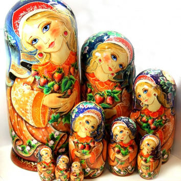 Nesting Dolls 10pcs 18.9inch Strawberry ornament kod317
