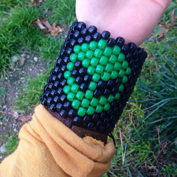 I Want To Believe Alien Rave Kandi Cuff PLUR