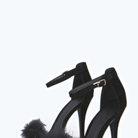 Fifi Faux Fur Barely There Heels