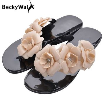 Outside Summer Women Slippers Flip Flops Women Sandals Female Candy Color Beach Shoes
