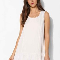 Blu Pepper Lace-Trim Drop-Waist Tank Dress- Ivory M