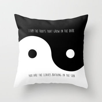 Yin Yang Throw Pillow by Sara Eshak | Society6