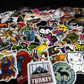 100PCS Car Styling  Moto Stickers Motorcycle Decal Funny Cartoon Personality Cartoon characters spoof Car Sticker Accessories
