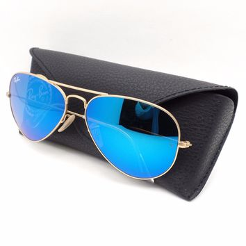 Cheap Ray Ban 3025 112/17 Matte Gold Blue Mirror New Guaranted Authentic Various Sizes