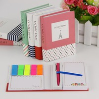 1PC Novelty Creative Kawaii Mini Memo Pad Comes With Ballpoint Pen Notepad Give Their Children The Best Learning Stationery