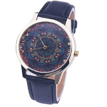 Neutral Table Print Analog Quartz Vogue Watch