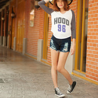 Calm Hood Shirt Calum Hood 5 Second of Summer Calm Hood 96 T Shirt for Women Tops Teen Clothing Hipster Tee Baseball Raglan Top