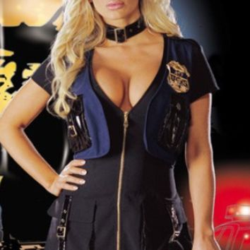 Sexy Cop Police Officer Women's Halloween Costume