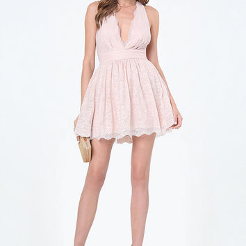 EVERETT LACE PLUNGE DRESS