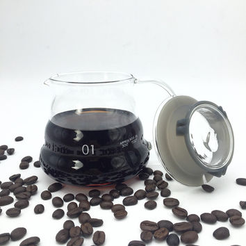 360ML high-quality glass coffee pots / Creative clouds shapes kettle coffee percolator and tea pot kitchen tools
