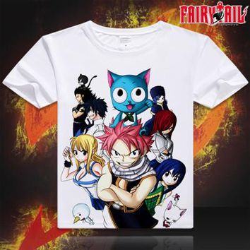 Fairy Tail Short Sleeve Anime T-Shirt V9
