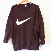 Nike Fashion Casual Long Sleeve Round Neck Pullover Swoosh Sweatshirt G
