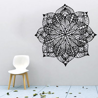 Wall Decals Mandala Stickers Vinyl Bedroom Decor Bohemian Boho Wall Art Yoga SM5