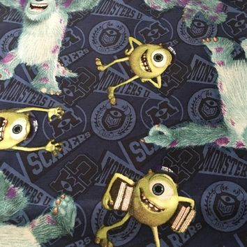 Springs Creative - 2012 Monsters University - 100% Cotton Fabric Mike and Sully 1/2 yd