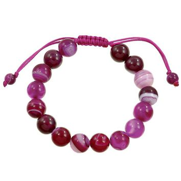 Courage, Balance and Protection- Fuchsia Agate