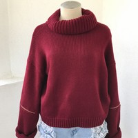 RORY TURTLENECK - BURGUNDY