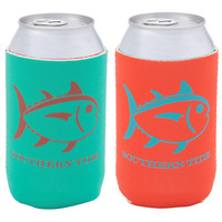 Reversible Can Caddie in Tidewater Green/Orange Coral by Southern Tide