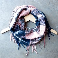 cozy flannel infinity scarf with tassels
