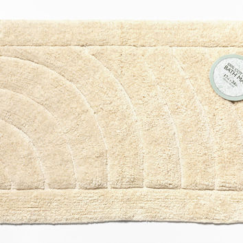 "Royal Bath Collection Solid Color Large (21"" x 34"") 100% Cotton Bath Mat (Ivory)"