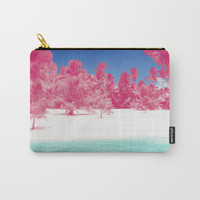 Pink Palms Carry-All Pouch by Kate & Co.