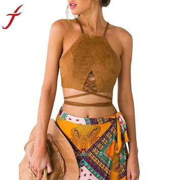 Hippie Cute Crop Top in Black, and Brown