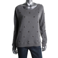 Tommy Hilfiger Womens Cotton Embellished Casual Top