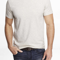 STRETCH COTTON CREW NECK TEE from EXPRESS