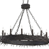Fortune Oval Iron Chandelier