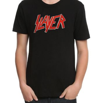 Slayer SLAYER Logo T-Shirt Heavy Metal Band NEW Licensed & Official