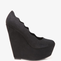 Scalloped Platform Wedges