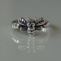Sterling Silver 925 Bumble Bee Adjustable Toe Ring
