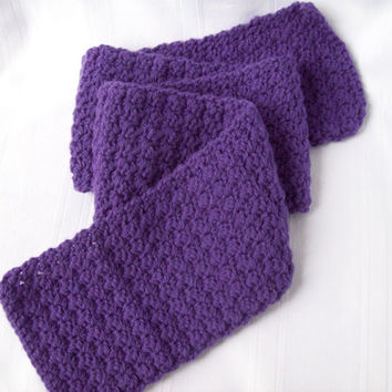 Crochet Scarf // Crochet Purple Scarf // Teen/Ladies Crochet Purple Scarf // Fall and Winter Accessory