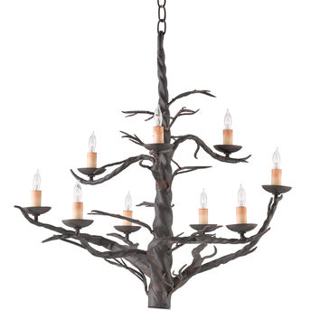 Currey Company Treetop Chandelier, Large