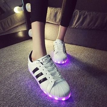 adidas superstar with led lights