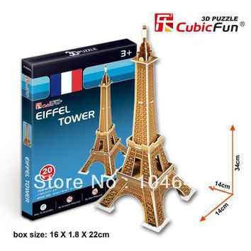 Eiffel Tower CubicFun 3D educational puzzle Paper & EPS Model Papercraft Home Adornment for christmas gift