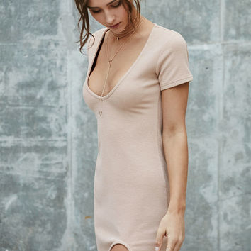 Nightwalker Kick Back Beige Midi Dress at PacSun.com