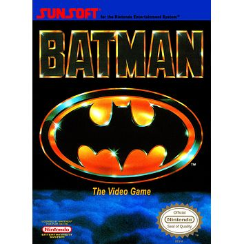 Retro Batman Game Poster//NES Game Poster//Video Game Poster//Vintage Game Cover Reprint