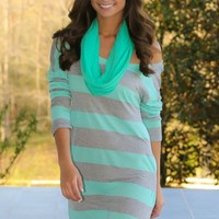 Getting Comfortable Tunic-Mint