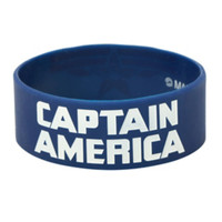 Marvel Captain America: The Winter Soldier Logo Rubber Bracelet
